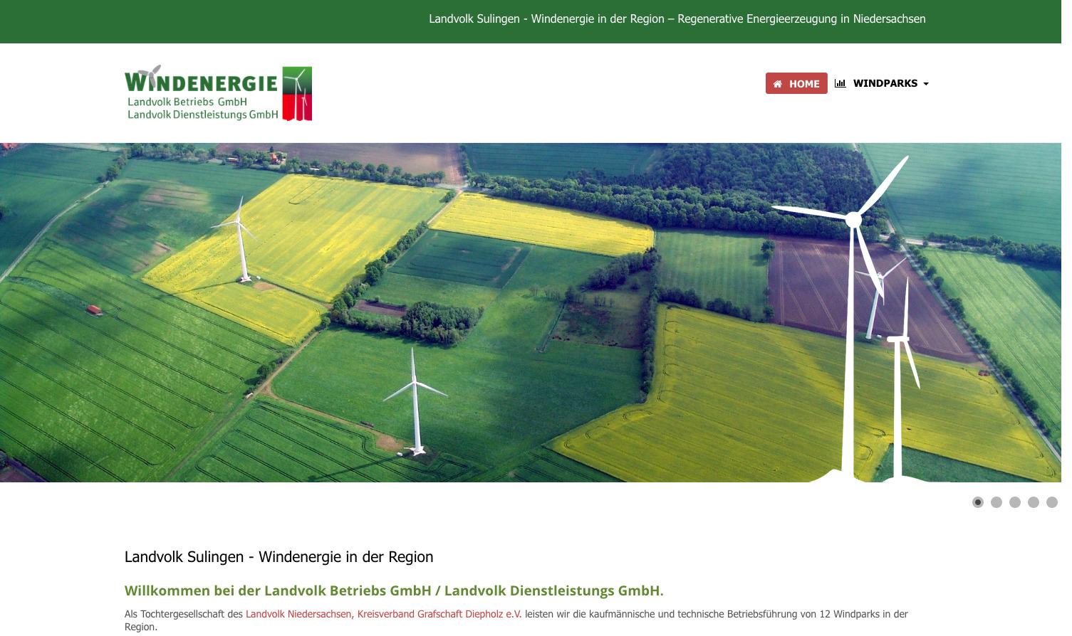 Landvolk Sulingen - Windenergie in der Region