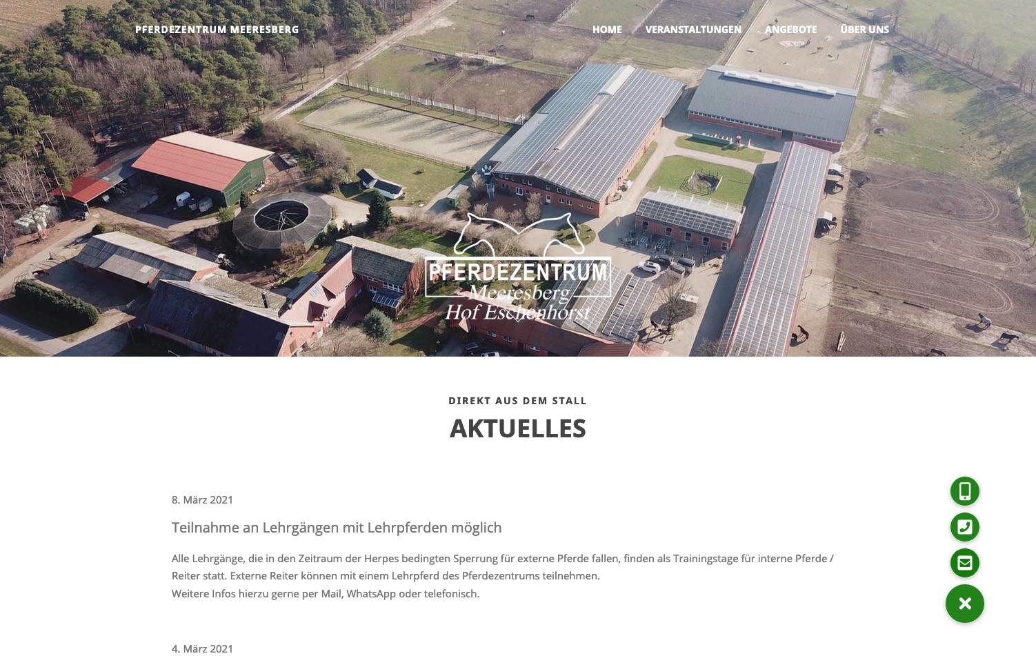 Pferdezentrum Meeresberg - Pensionsbetrieb, Reitschule, Lehrgänge, Trainerausbildung